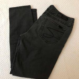 Seven7 Skinny Jeans Dark Grey Size 12
